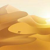 Desert dunes landscape.