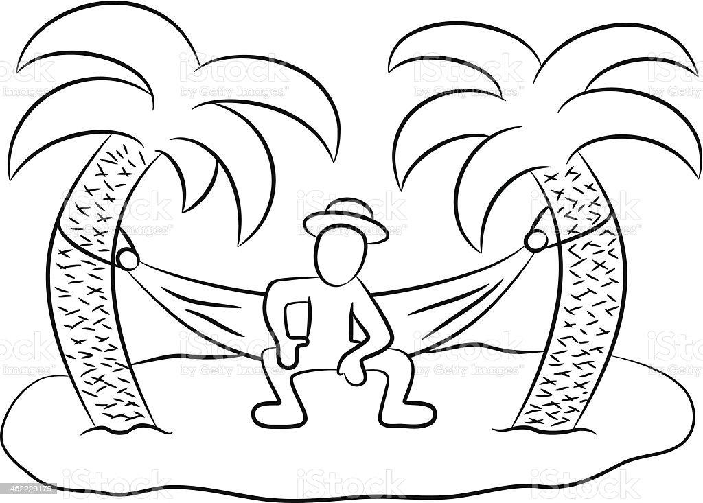 desert island royalty-free stock vector art