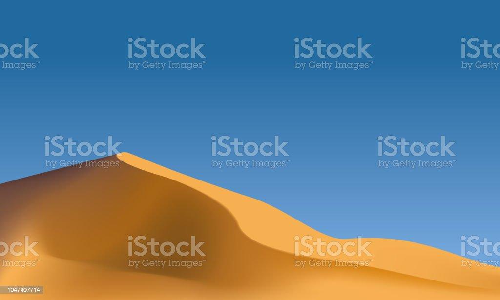 砂漠の景観  ベクターアートイラスト
