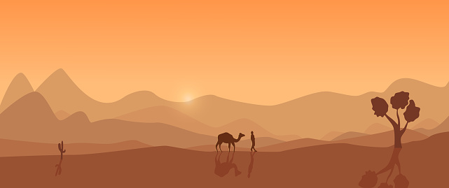 Desert landscape without reference.
