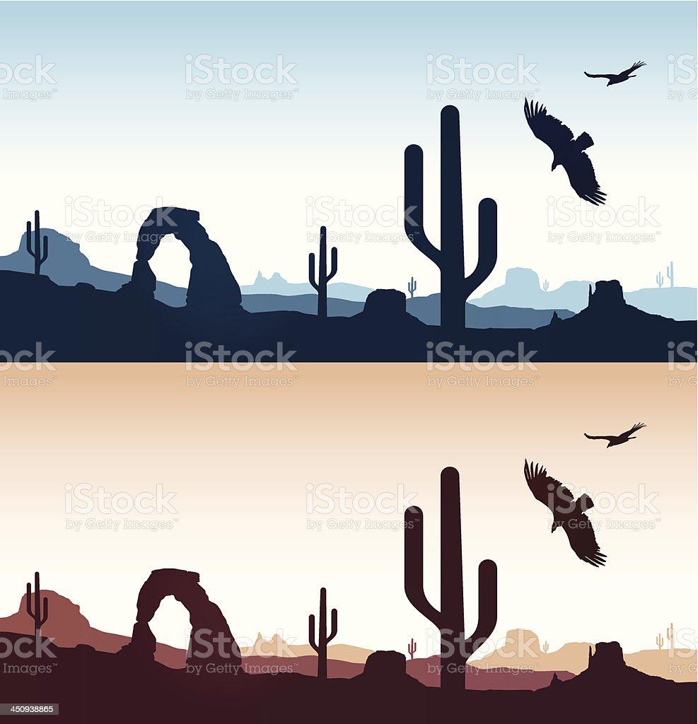 Desert Landscapes vector art illustration