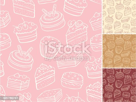 istock Desert pattern with backgrounds in cream, tan, red and pink 165786241