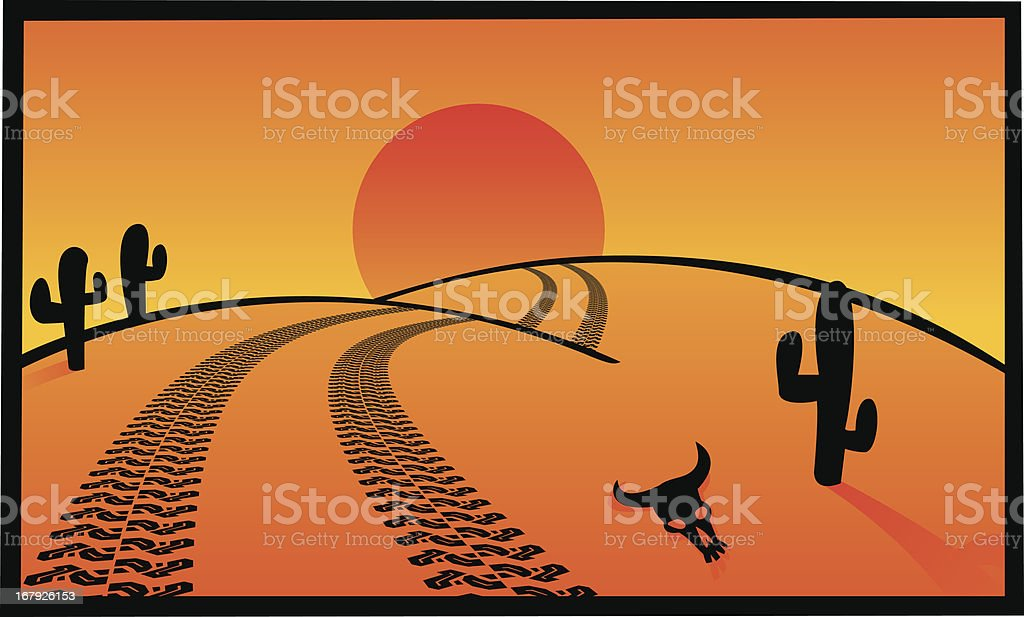 desert postcard royalty-free stock vector art