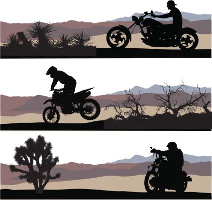 Desert Speedsters Vector Silhouette