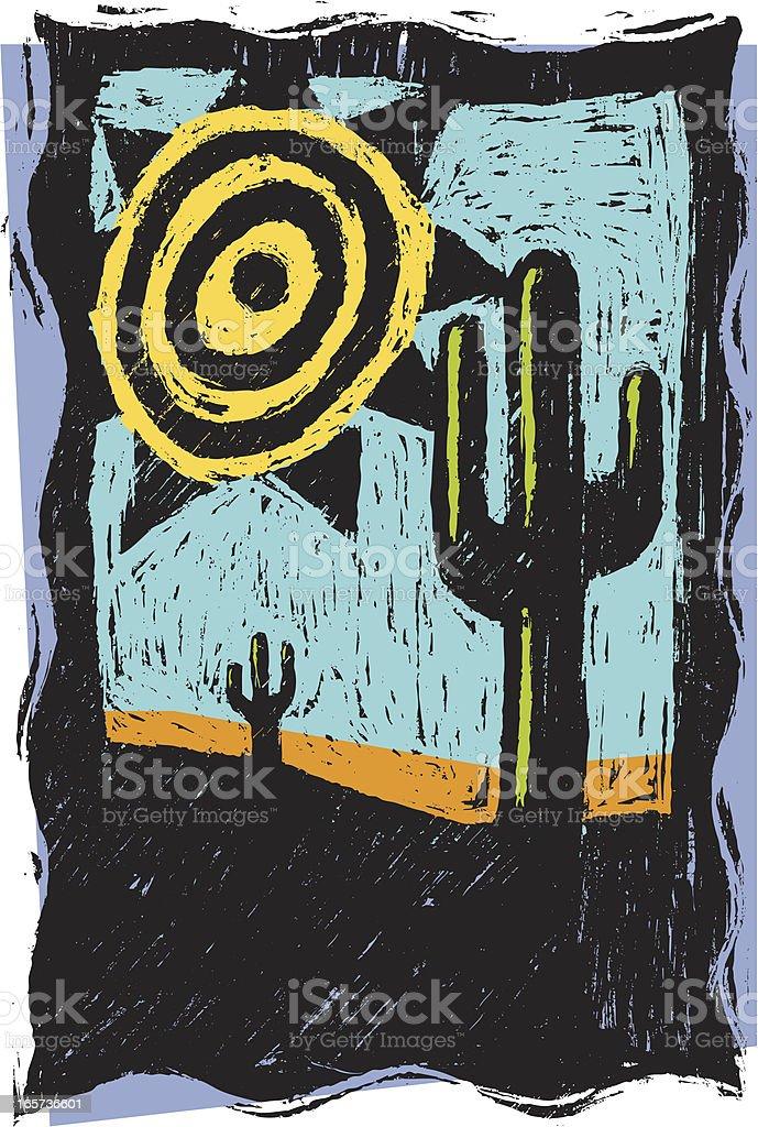 Desert Sun royalty-free stock vector art