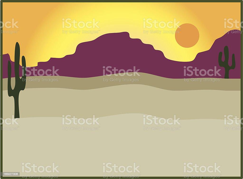 Desert Sunset royalty-free stock vector art
