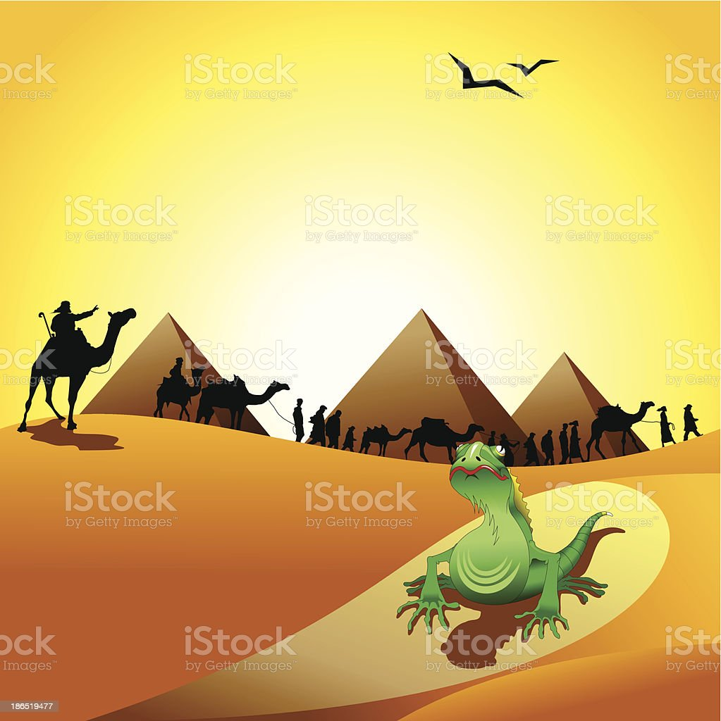 desert royalty-free stock vector art