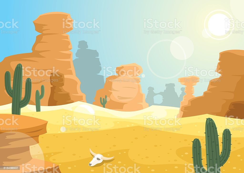 Desert - Illustration vectorielle
