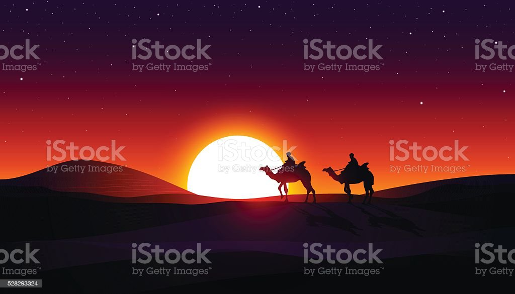 Desert vector art illustration