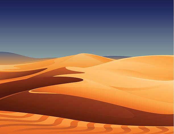 砂漠 - 砂漠点のイラスト素材/クリップアート素材/マンガ素材/アイコン素材