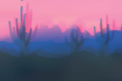 Desert vector stock illustration