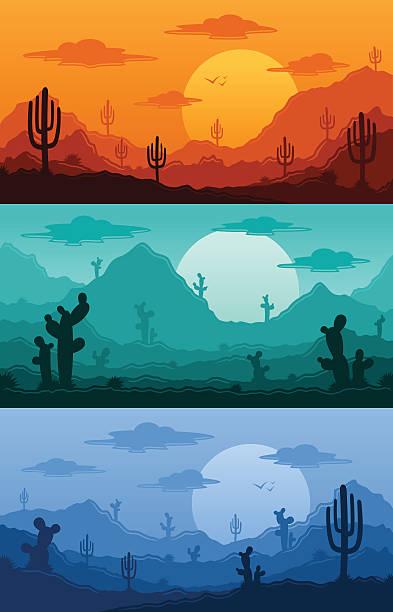 砂漠の野生の自然の風景ベクトルイラスト - 野生動物旅行点のイラスト素材/クリップアート素材/マンガ素材/アイコン素材