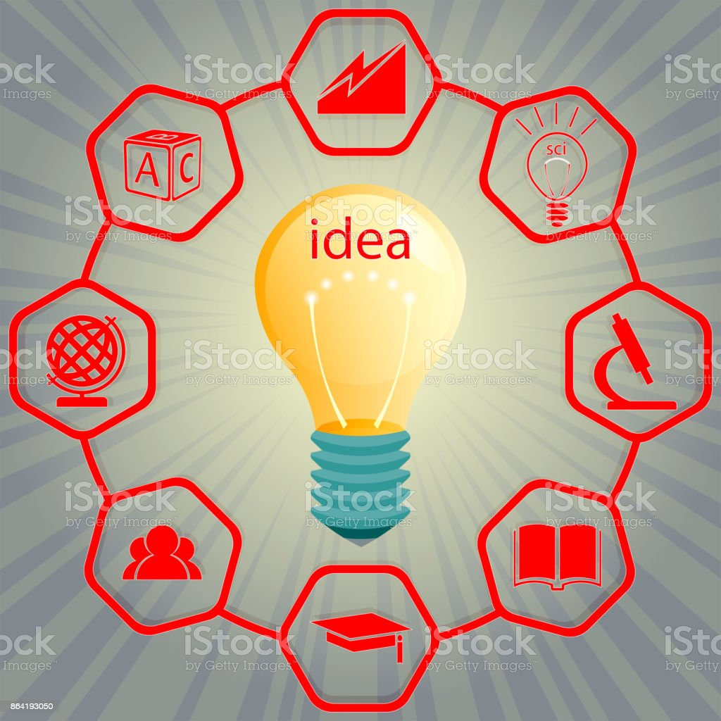 Design a burning light bulb with a text idea royalty-free design a burning light bulb with a text idea stock vector art & more images of backgrounds