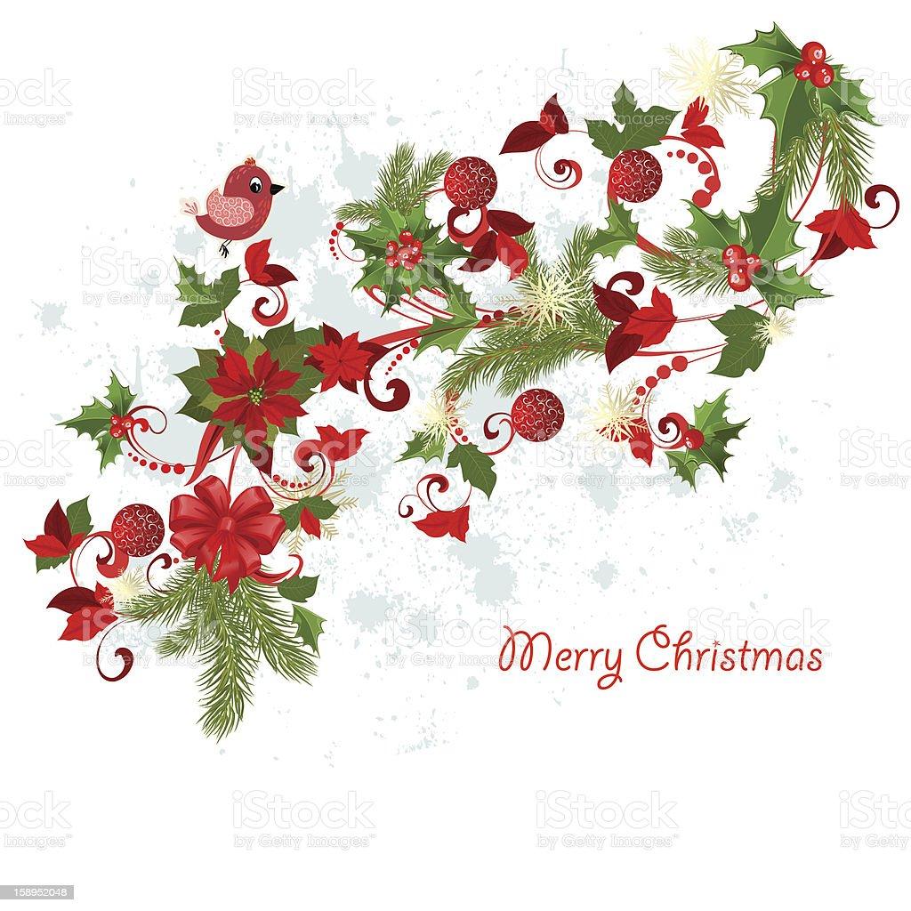 Design a Christmas greeting card royalty-free stock vector art