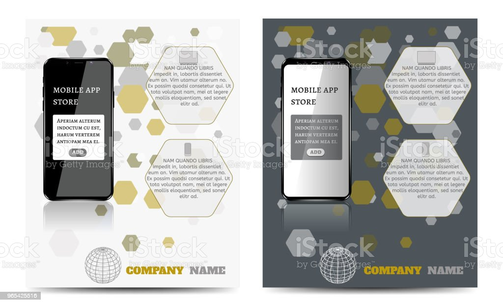 Design a layout template with a mobile app. royalty-free design a layout template with a mobile app stock vector art & more images of advertisement