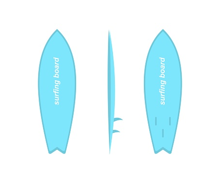 design about a surfboard illustration