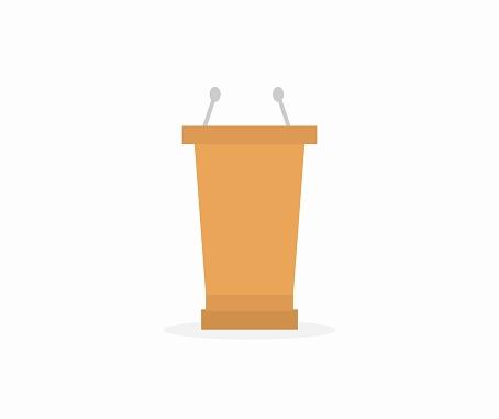 design about podium icon illustration