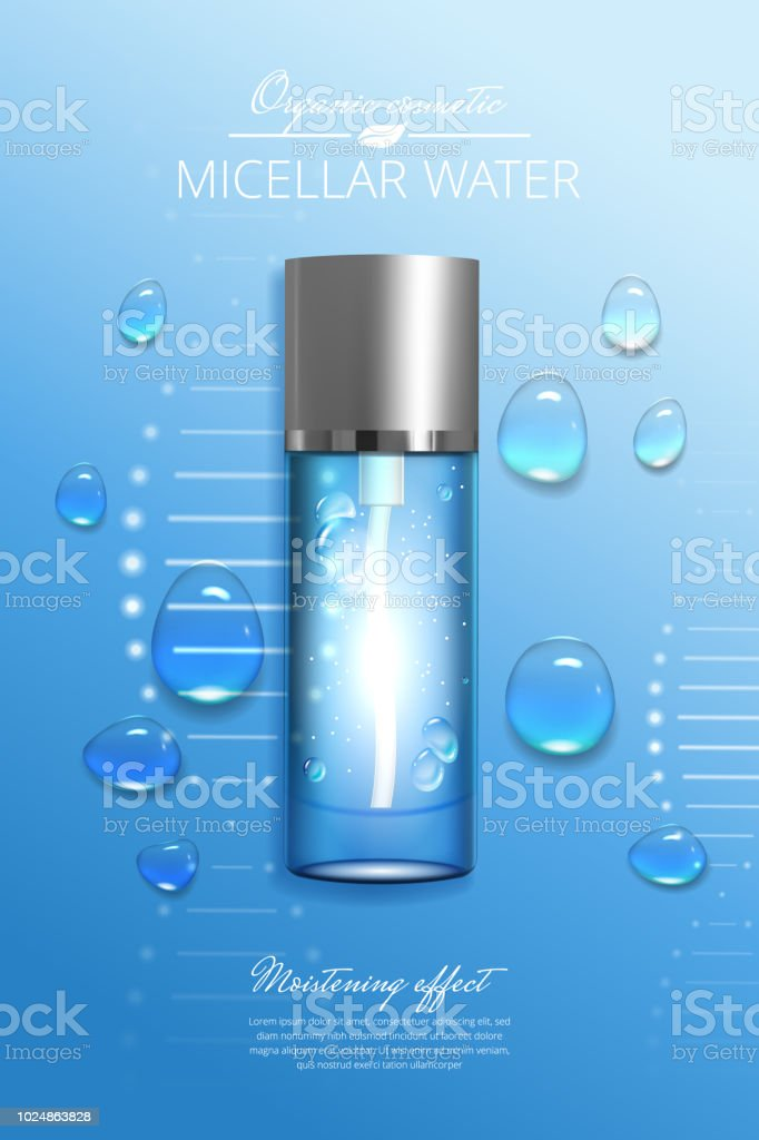 Design advertising poster for cosmetic product for catalog, magazine....