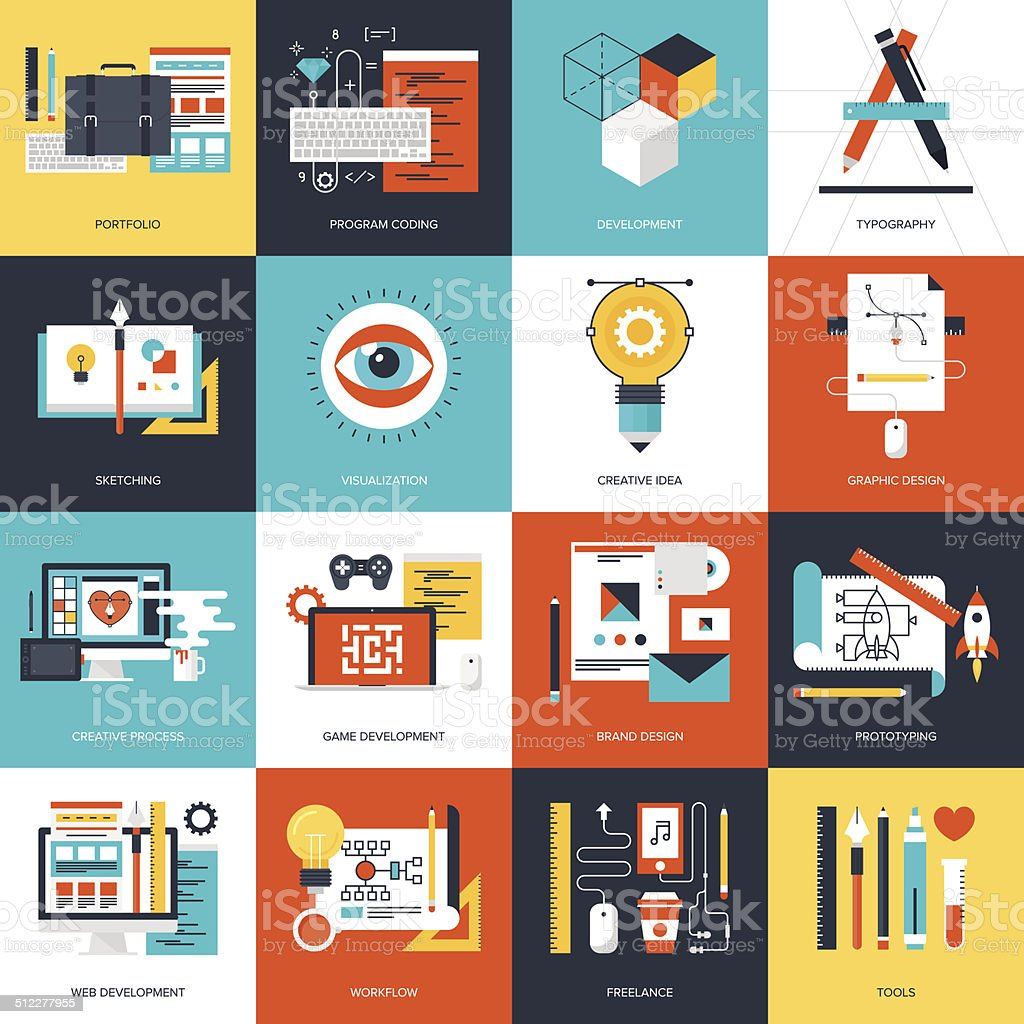 Design et développement. - Illustration vectorielle