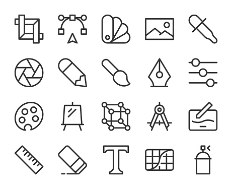 Design and Drawing - Line Icons
