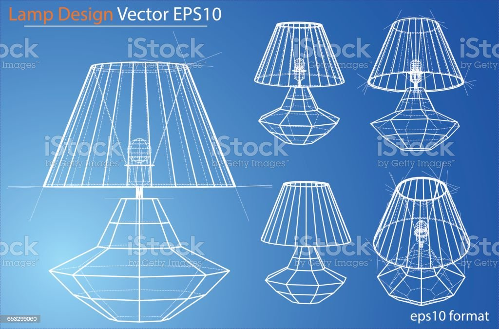 Lamp Wire Frame Vector - DATA WIRING •