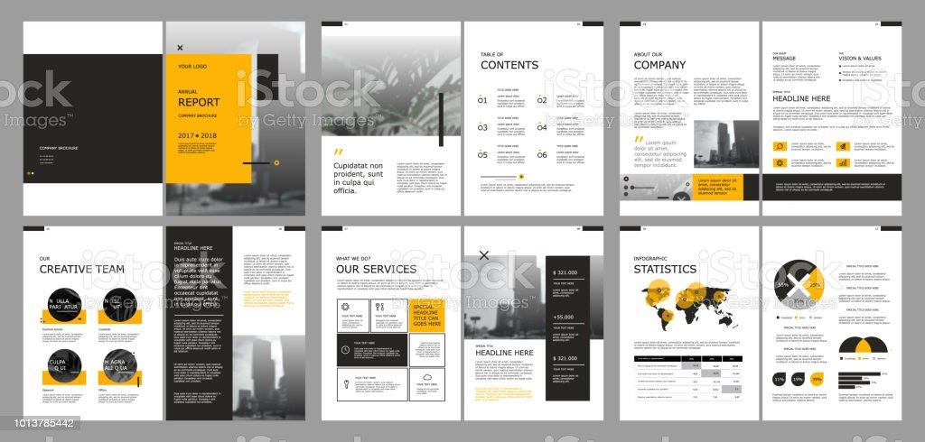 アニュアル レポート カバー本ベクトル テンプレートをデザインします。 - イラストレーションのロイヤリティフリーベクトルアート