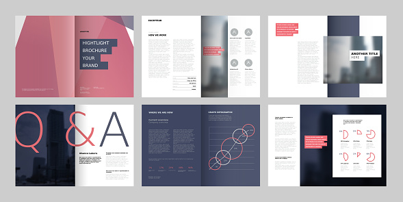 Design annual report, cover, vector template brochures, flyers, presentations, leaflet, magazine a4 size.