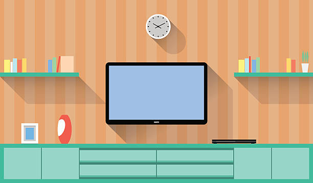 467 Living Room Tv Screen Illustrations Clip Art Istock