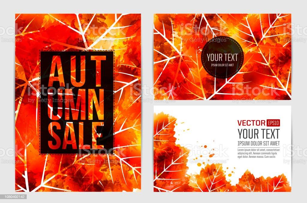 Designhintergrund Mit Blättern Design Banner Flyer