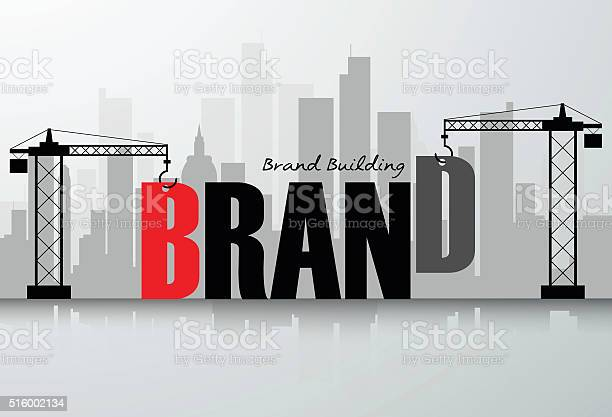 Design Brand Building Concept Vector Illustration Stock Illustration - Download Image Now
