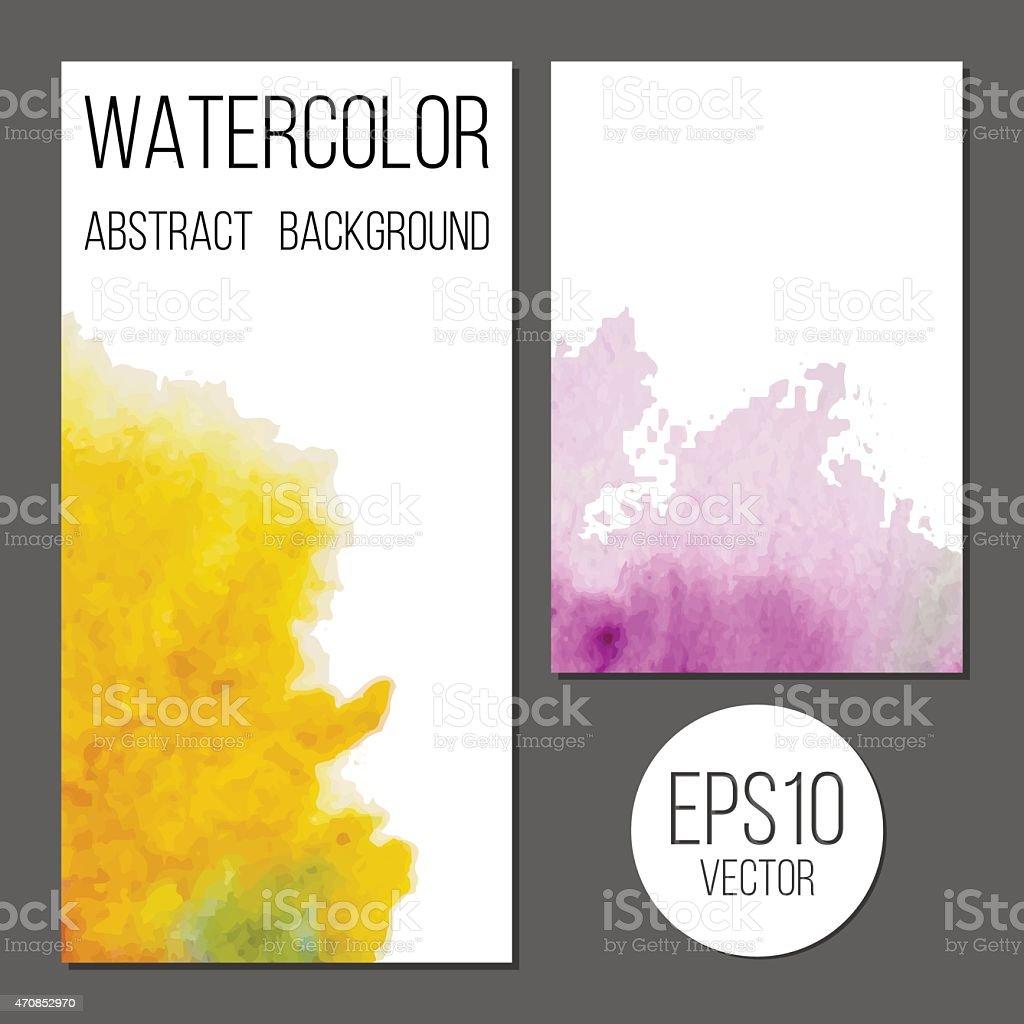 Conception De Brochure Ou Carte Visite Vecteur Les Taches Peinture Stock Libres
