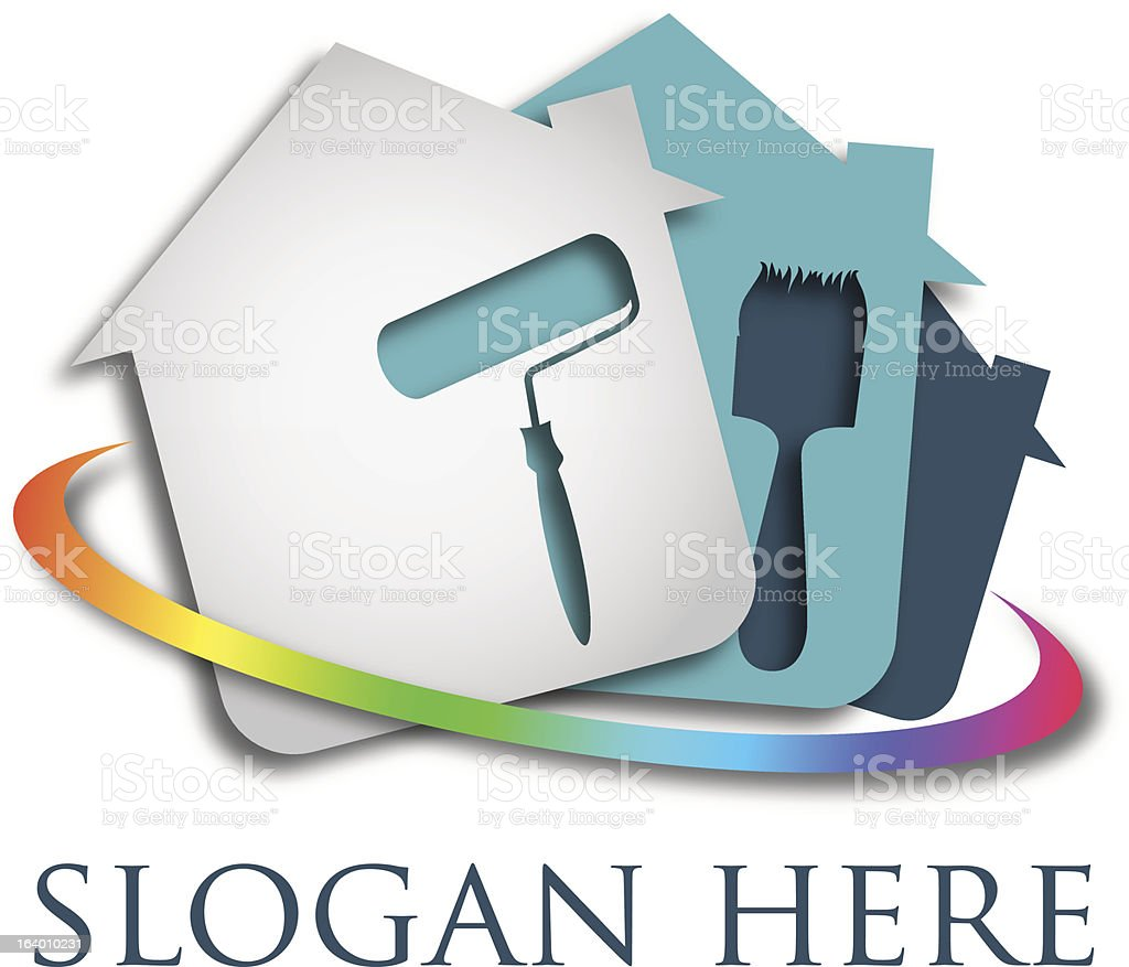 Design business, painting house vector art illustration