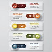 Design clean number banners template/graphic or website layout. Vector. for your presentation and simple text.