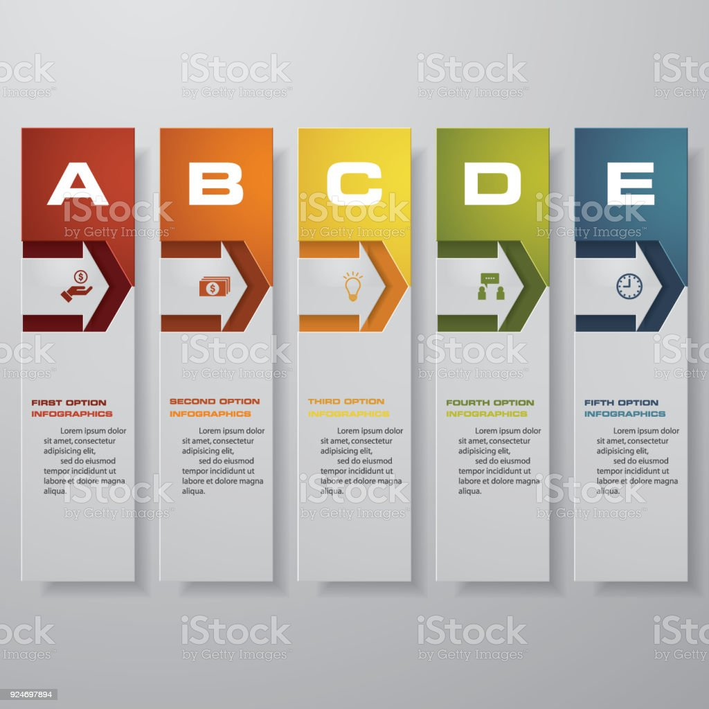 Design Clean Number Banners Templategraphic Or Website Layout Vector ...
