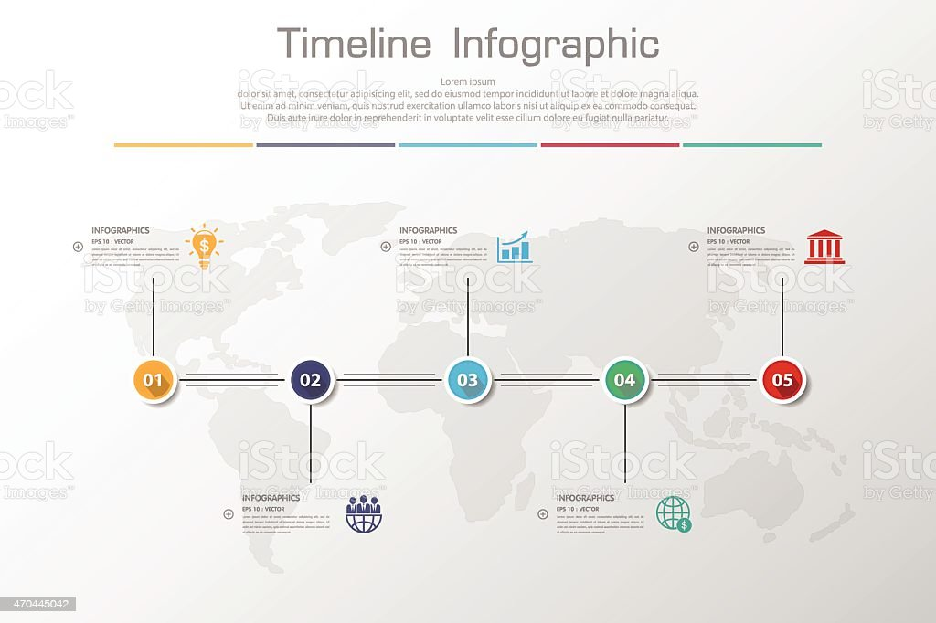 Design Clean Number Timeline Templategraphic Or Websitevector Stock
