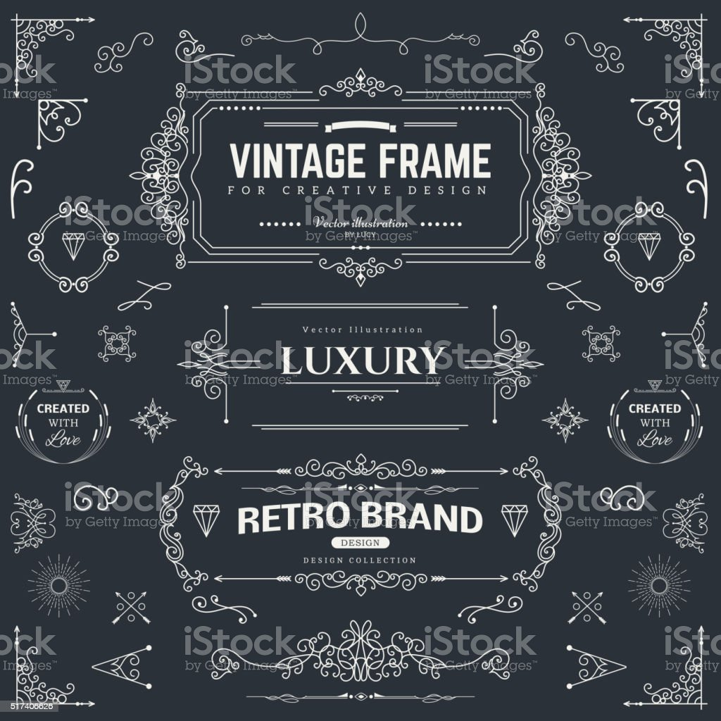 Kollektion von vintage-Muster – Vektorgrafik