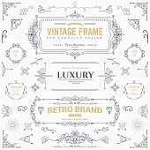 Design collection of vintage patterns