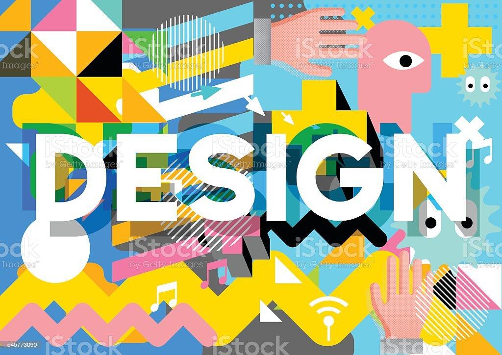 Design composition vector art illustration