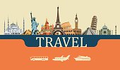istock Design Concept of Travel World Landmarks 497279046