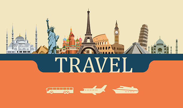 bildbanksillustrationer, clip art samt tecknat material och ikoner med design concept of travel world landmarks - india statue