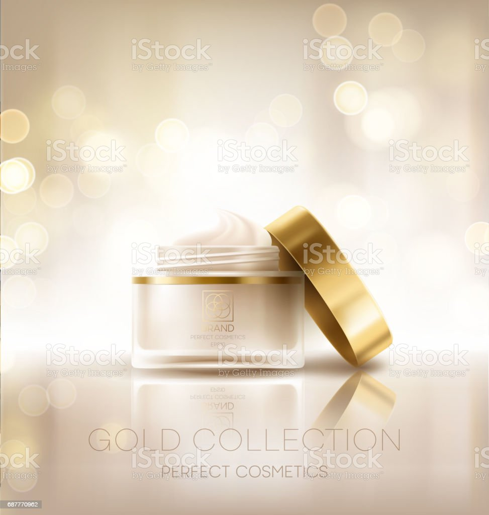 Design cosmetics product advertising. Vector illustration