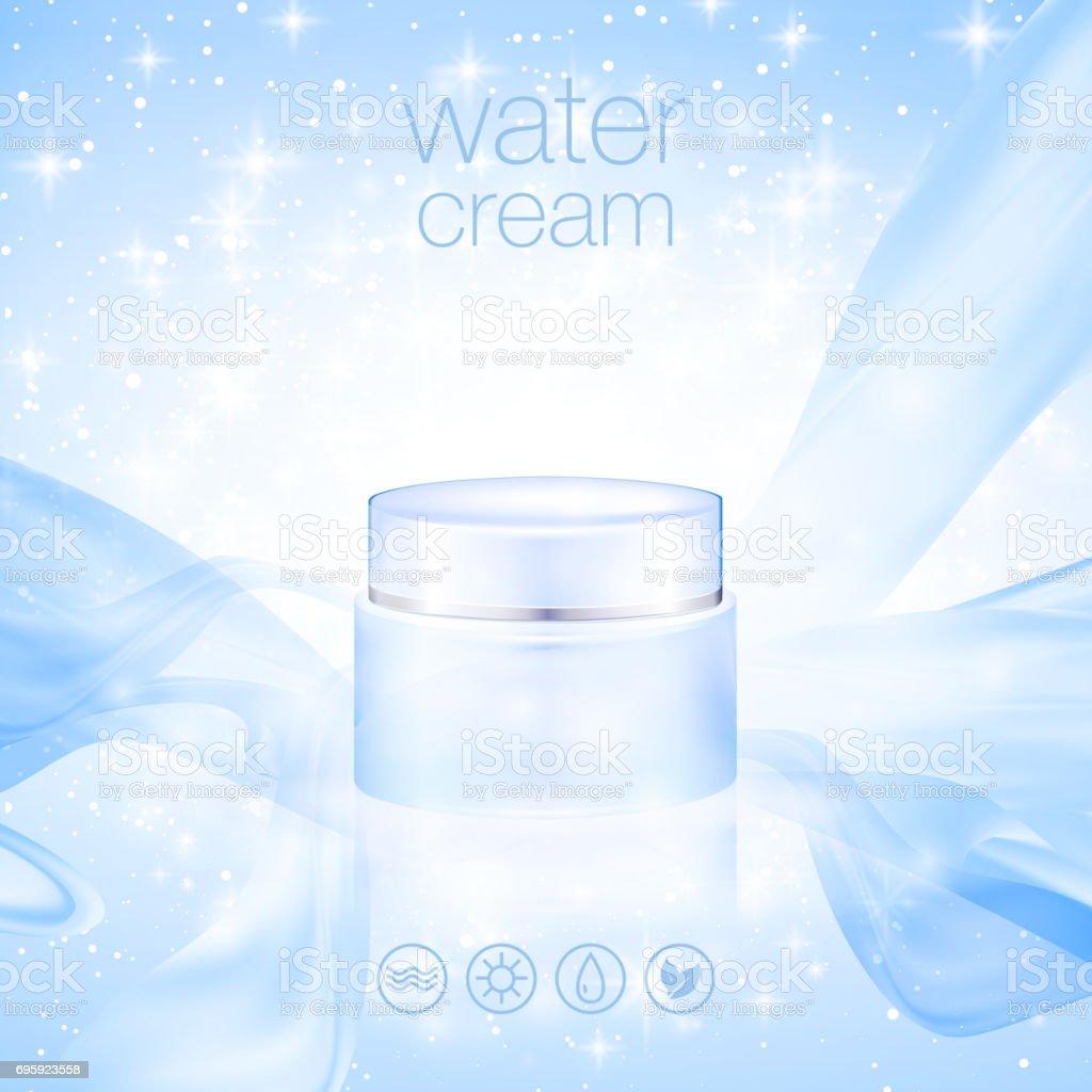 Design cosmetics product advertising. Vector illustration vector art illustration