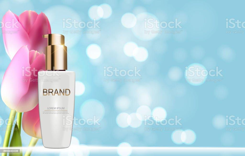 Design Cosmetics Product  Template for Ads or Magazine Backgrou design cosmetics product template for ads or magazine backgrou - immagini vettoriali stock e altre immagini di accudire royalty-free