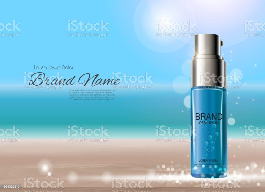 Modelo de produto design cosméticos para anúncios ou fundo de revista. 3D Vector realista Iillustratio - Vetor de Aromaterapia royalty-free