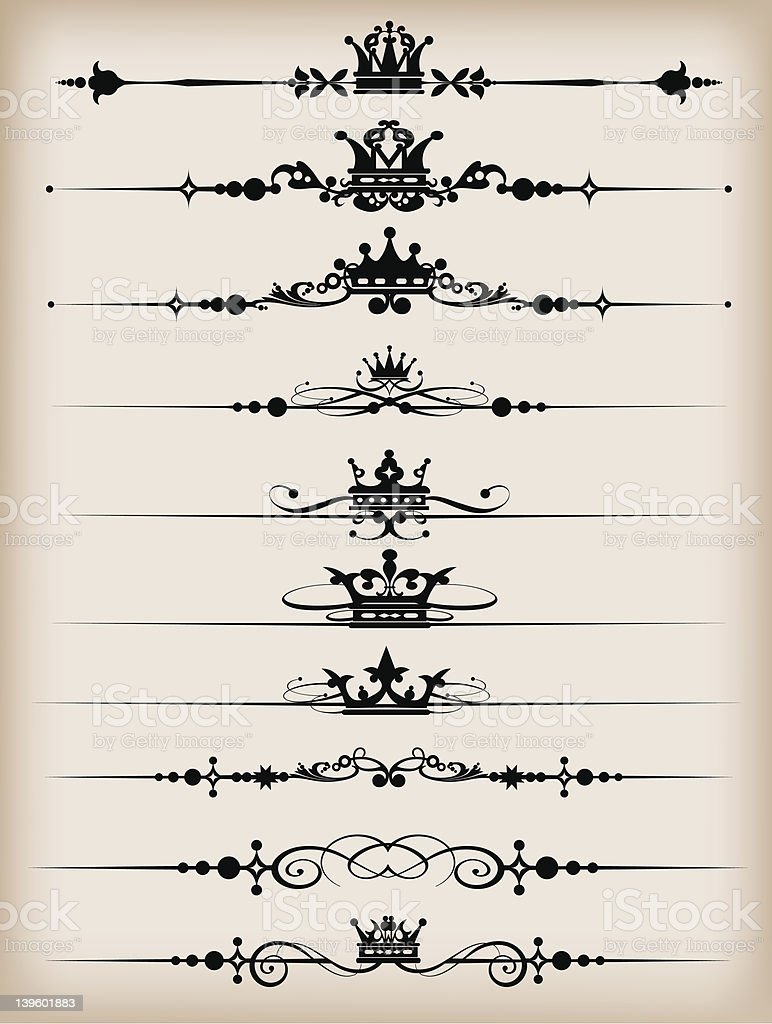 Design Dividers Vector image - Set 50 royalty-free design dividers vector image set 50 stock vector art & more images of antique