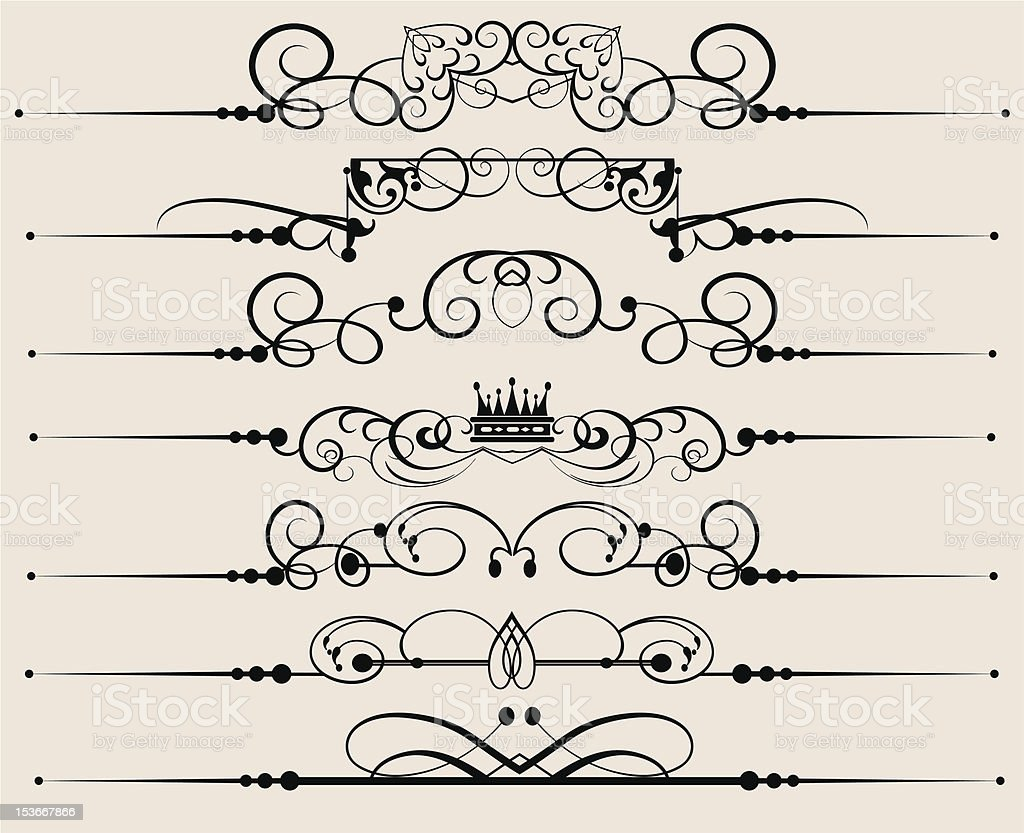 Design Dividers Vector image - Set 53 royalty-free stock vector art