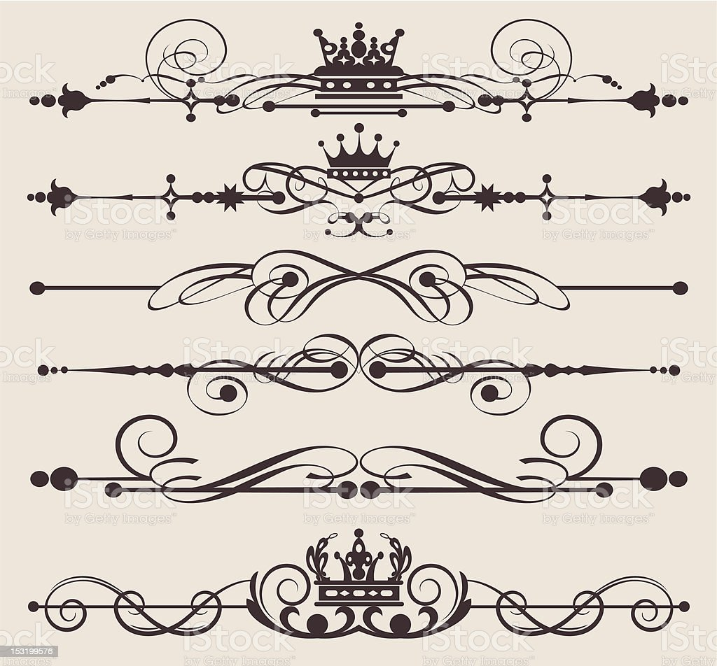 Design Dividers Vector image - Set 55 royalty-free design dividers vector image set 55 stock vector art & more images of art