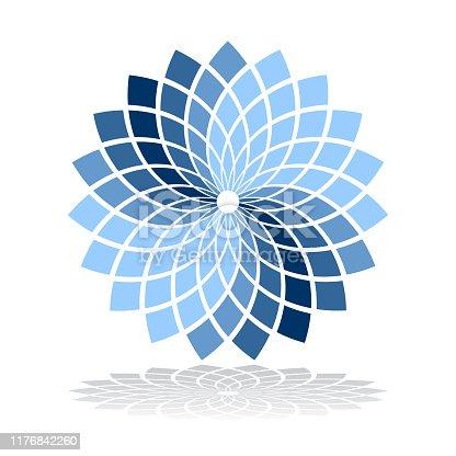 Design element. Abstract circle rotation geometric pattern.  Vector art.