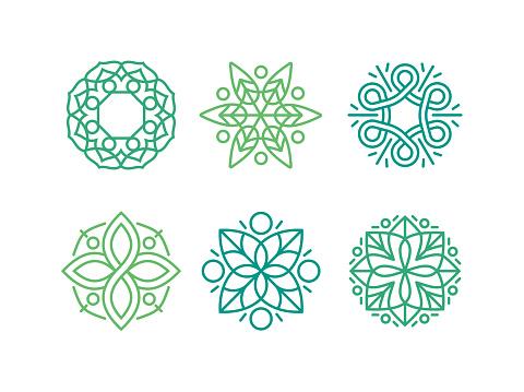 Design Element Emblem Flourish Symbols