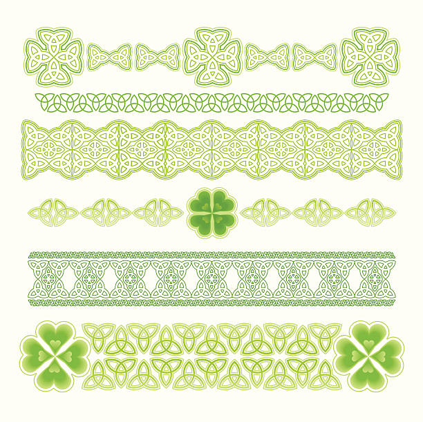 Design Element for St. Patrick's Day Vector illustration. Six variations Celtic patterns. celtic knot stock illustrations